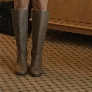 Jcrew boots to knee with back zipper